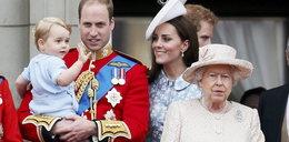 Kate, William i mały George na urodzinach królowej Elżbiety!
