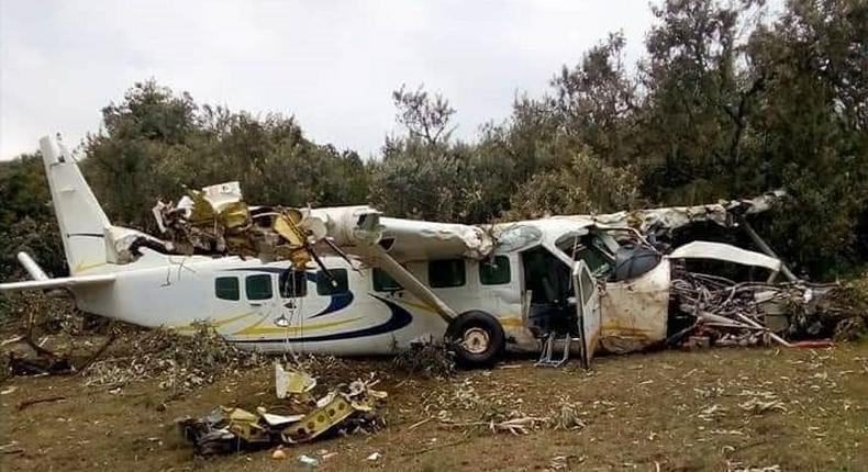 Aircraft crashes in Narok after leaving Maasai Mara