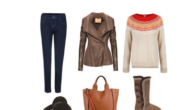 Spodnie Top Secret, nauszniki EMU Australia, kożuch EMU Australia, torba oraz sweter GAP, buty EMU Australia