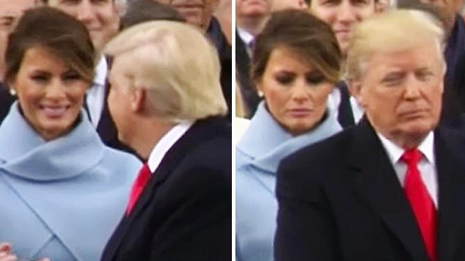 Melanija i Donald Tramp na inaguraciji