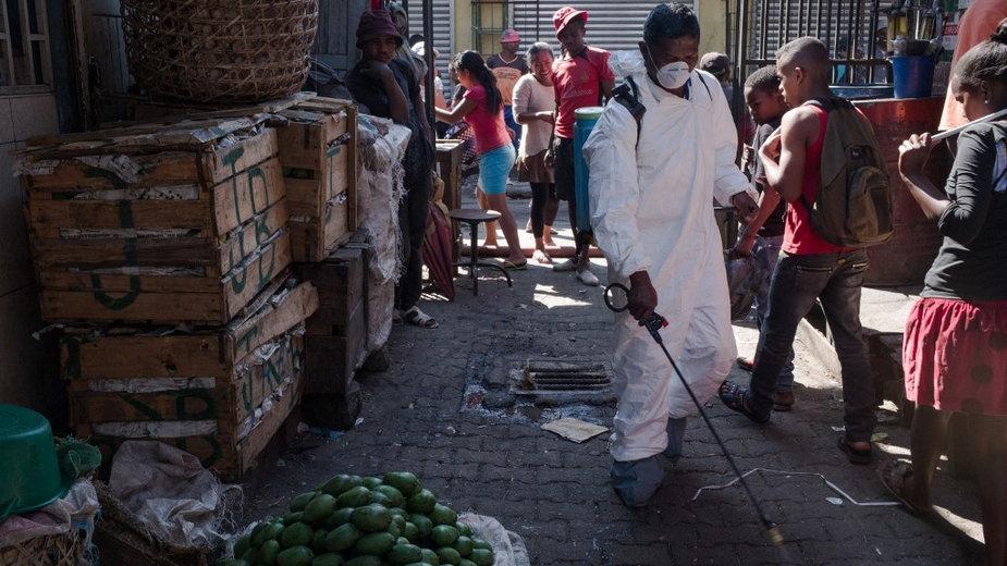Epidemia dżumy na Madagaskarze w 2017 r.