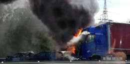 Karambol pod Szczecinem. Nie żyje sześć osób. Bohater z Ukrainy rzucił się na ratunek płonącym!