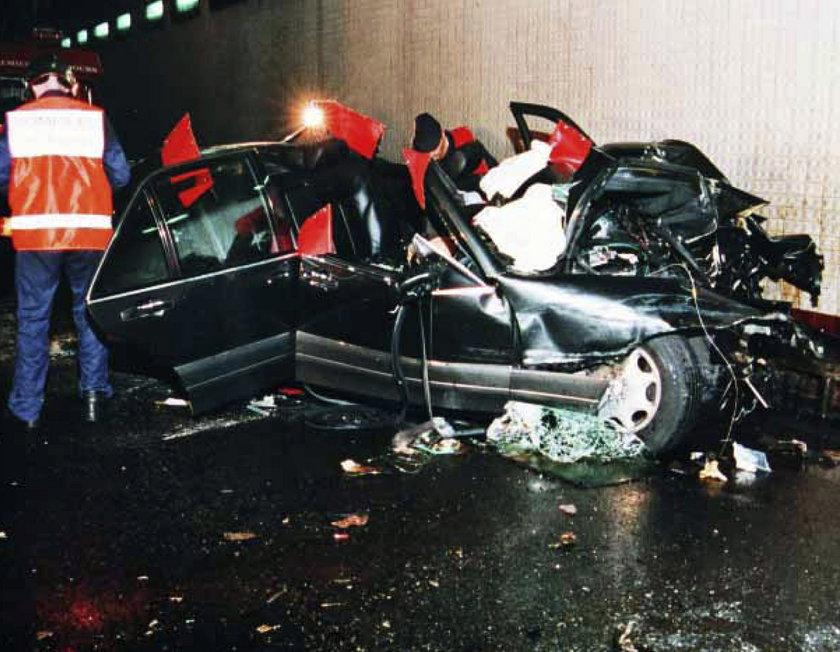 księżna Diana, wypadek samochodowy