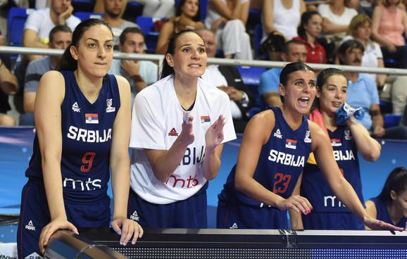 Detalj sa meča košarkašica Srbije i Belorusije