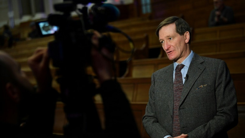 Conservative MP Dominic Grieve speaks during an interview with AFP on the sidelines of The Convention, a pro-EU convention on a second EU referendum, in London on January 11, 2019.The British MP spearheading parliamentary attempts to frustrate Brexit told AFP that he would not be intimidated by threats of violence as he called for a second referendum to end a deadlock over Prime Minister Theresa May's deal. Conservative MP Dominic Grieve's moves to increase the influence of parliament over the process of Brexit has made him a hero among EU supporters and a target of vicious attacks by infuriated Leave supporters.