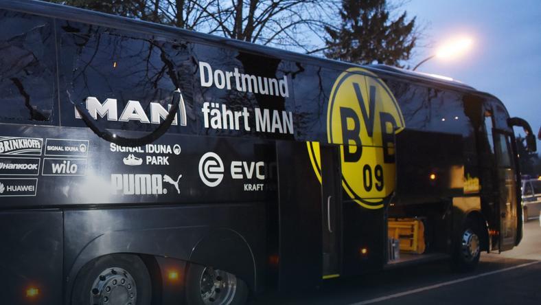 Autokar Borussii Dortmund po zamachu
