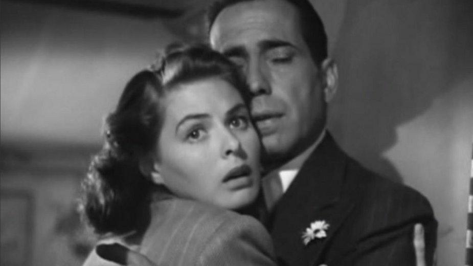 Filmowa Ilsa i Rick, czyli Ingrid Bergman i Humphrey Bogart (domena publiczna)