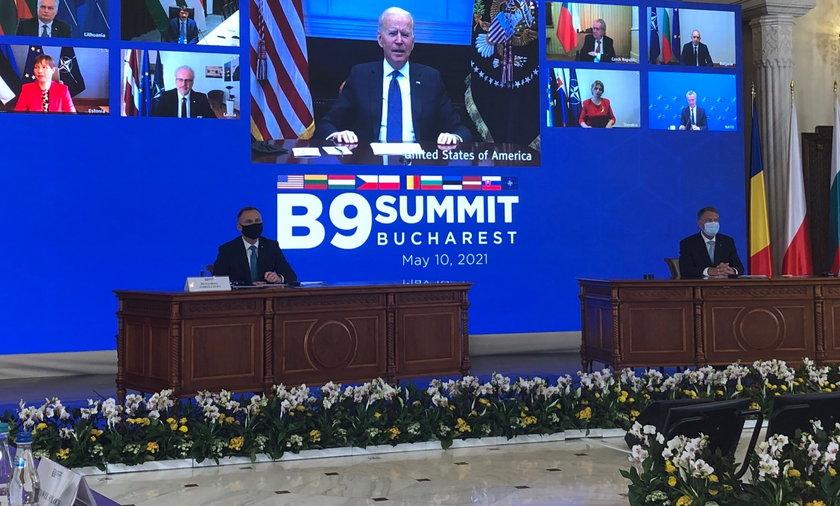 Joe Biden pojawił się na szczycie online.