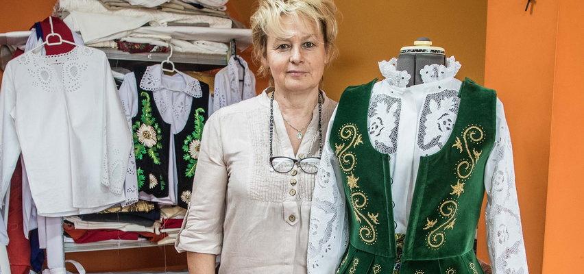 Góralski folklor nadal żywy! Pani Maria dba o to, by podhalańskie hafty nie wyginęły