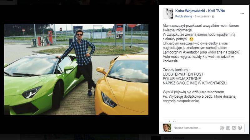 Kuba Wojewódzki prezentuje Lamborghini - czy ktoś jeszcze nabiera się na takie przekręty?