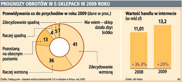 Prognozy obrotów w e-sklepach w 2009 roku