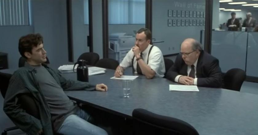 "Kadr z filmu ""Office space"""