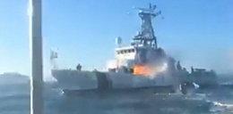 Atak rybaków na statek ekologów. FILM