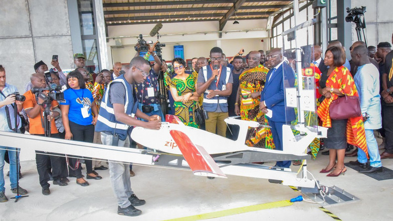 Ghana commissions country's first medical drone delivery centre at Omenako in the  Eastern Region (Twitter/Dr Mahamudu Bawumia‏) .
