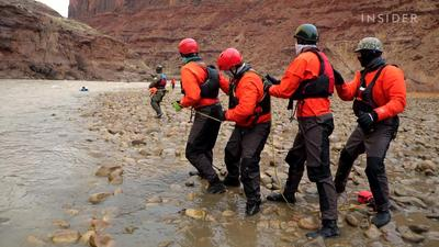 How whitewater rescuers are trained