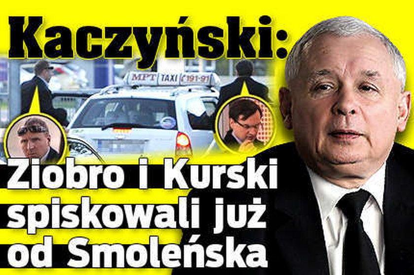 Kaczyński: Ziobro i Kurski kombinowali od Smoleńska