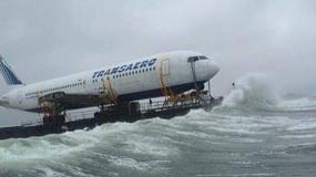 Pływający samolot Boeing 767 u wybrzeży Irlandii
