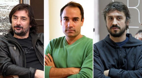 Vojin Ćetković, Srdjan Timarov i Bane Trifunović