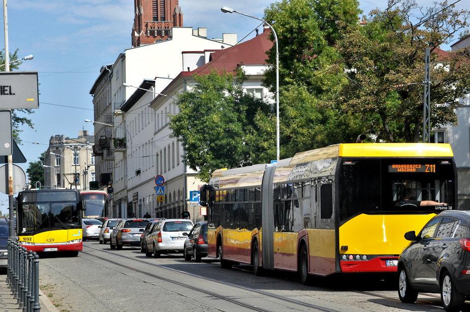 Korek w centrum Łodzi
