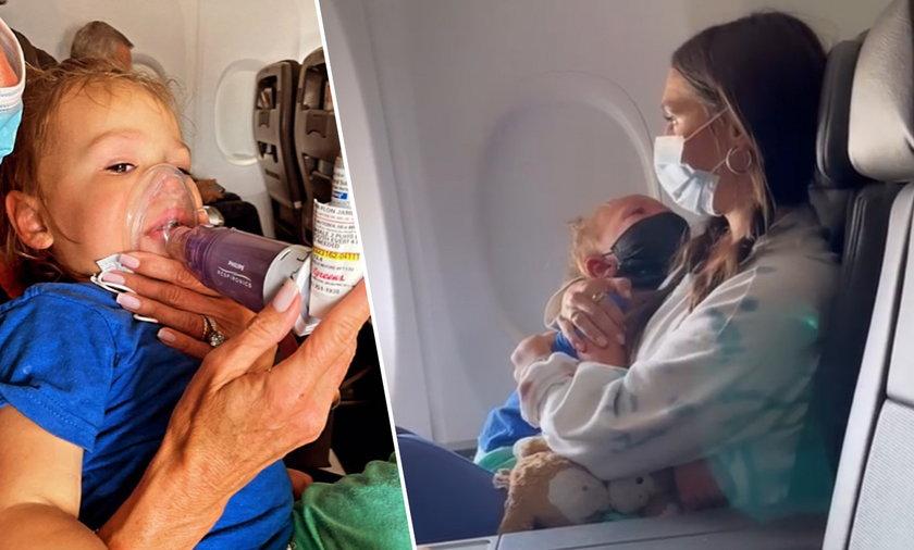 2-latek wyrzucony z samolotu przez brak maseczki. To był atak astmy?