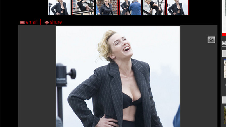 Kate Winslet bawi się w spidermankę