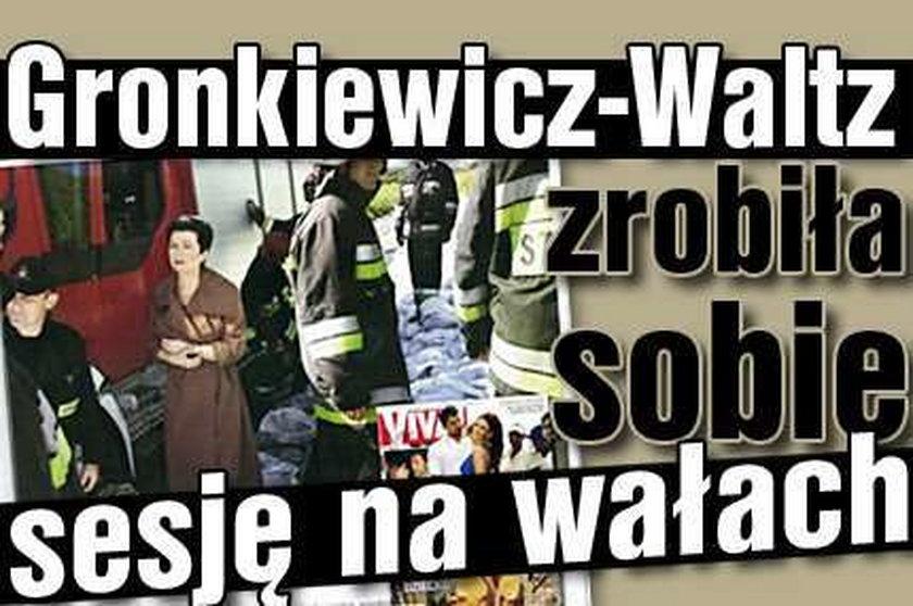 Gronkiewicz-Waltz zrobiła sobie sesję na wałach!