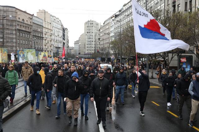 Protest antivakseri Skupština