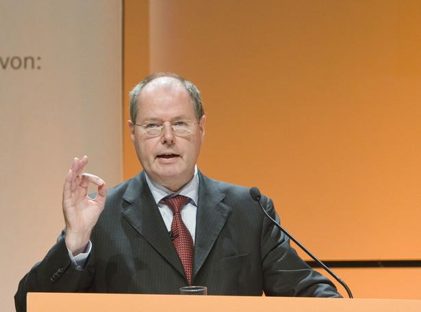 Steinbrueck uważa m.in., że konieczne jest ustanowienie międzynarodowych standardów zakładających większą odpowiedzialność osobistą aktorów działających na rynkach finansowych. Fot. Bloomberg