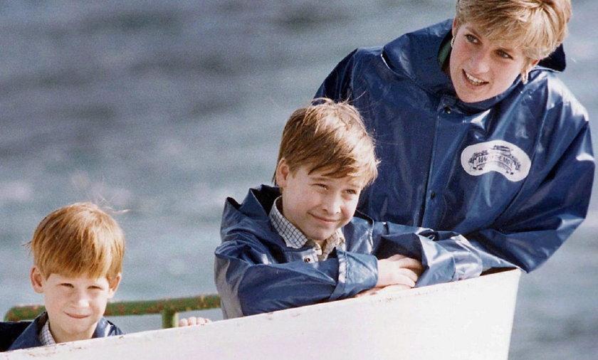 Księżna Diana z dziećmi.