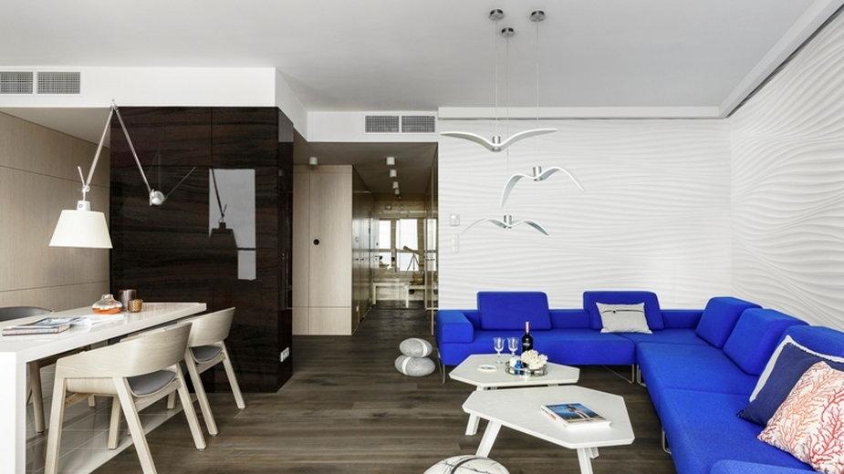 Mieszkanie w stylu marynistycznym z polskim akcentem