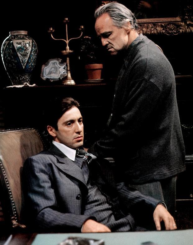 Al Pacino és MArlon Brando - A keresztapa