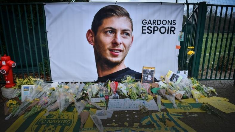 Tributes were paid to Sala outside the training ground in Nantes