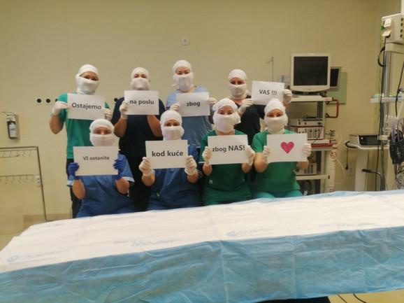 Medicinske sestre iz opšte bolnice u Srbiji
