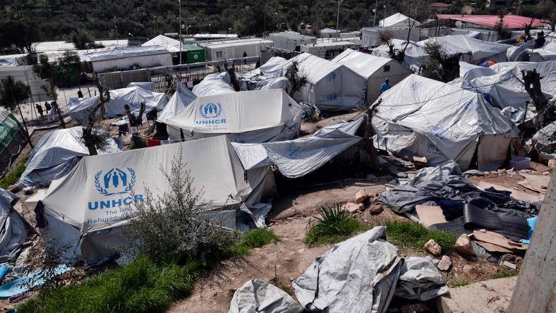 Obóz imigrantów na wyspie Lesbos