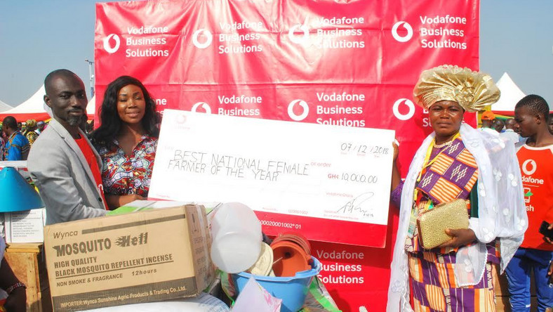Vodafone congratulates best female farmer