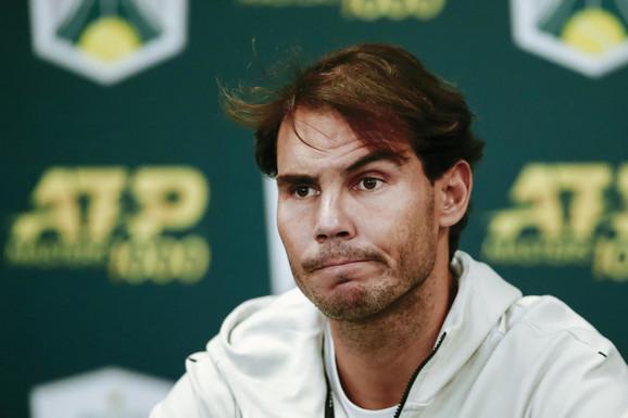 Rafael Nadal pred novinarima
