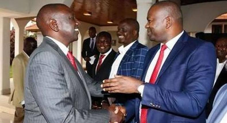 DP William Ruto with former Sports CS Rashid Echesa