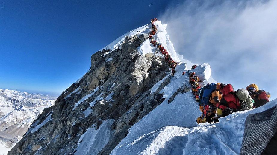 Kolejka na Mount Everest