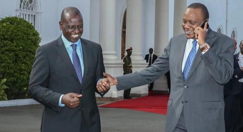 President Uhuru Kenyatta with DP William Ruto