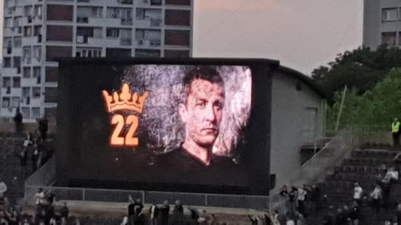Saša Ilić - poslednji put kao broj 22 u dresu Partizana
