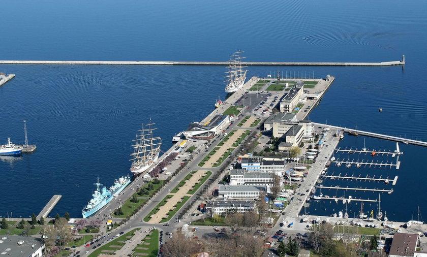 Gdynia port panorama turystyka