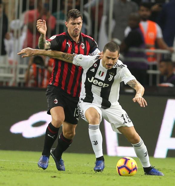 Detalj sa meča između Juventusa i Milana