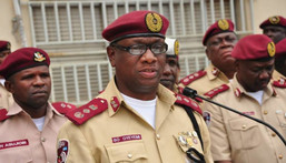 Corps Marshal of the FRSC, Dr. Boboye Oyeyemi and other officers of the agency [Premiumtimesng]