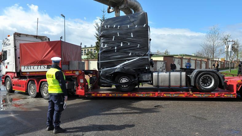 Ciężarówka należąca do firmy Ariela Żukowskiego