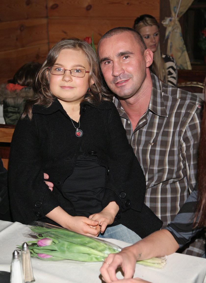 Nicole Saleta z tatą