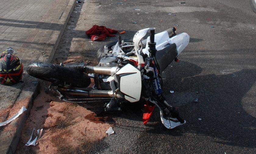 Tragiczny wypadek motocyklisty w Wadowicach Górnych.