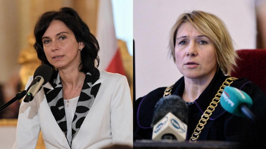 Od lewej: Anna Dalkowska - była wiceminister sprawiedliwości oraz Dorota Zabłudowska - sędzia Sądu Rejonowego w Gdańsku