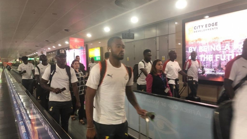 The Black Stars have touched down in Accra