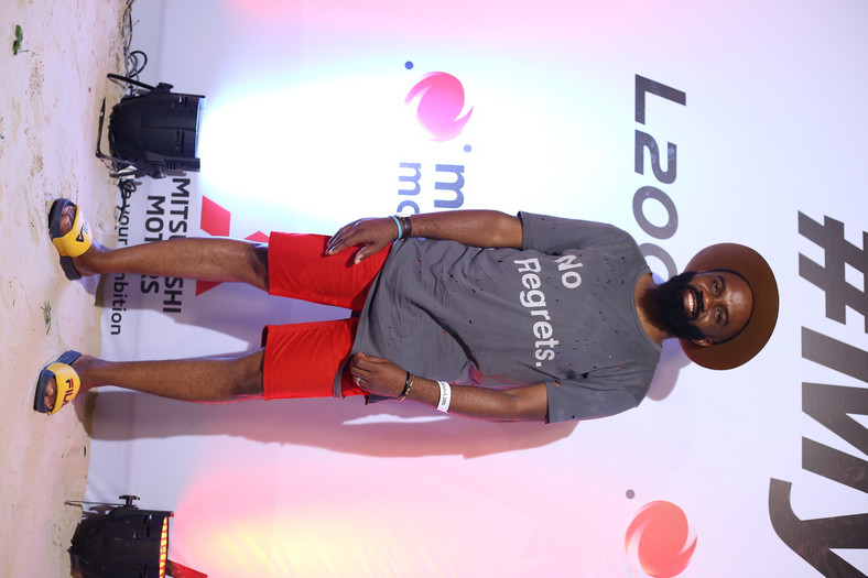 Noble Igwe at the launch of the Mitsubishi L200