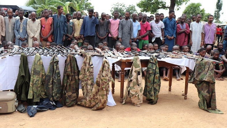 Criminal suspects paraded by the Nigeria Police Force in 2019 [NPF]